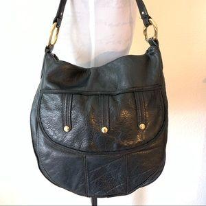 ☮️ Sigrid Olsen hobo black leather handbag purse